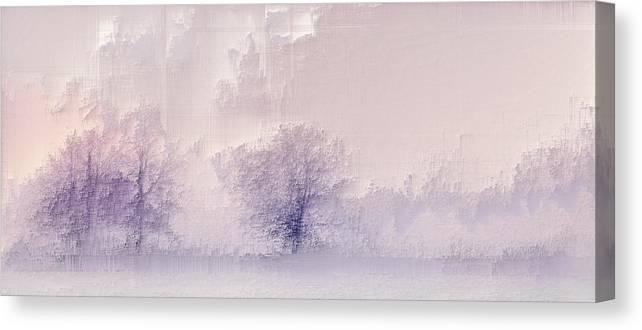 Canvas Print featuring the digital art Winter landscape by Jenny Filipetti