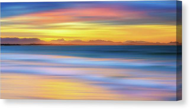 Tranquility Canvas Print featuring the photograph Abstract Sunset by Andriislonchak