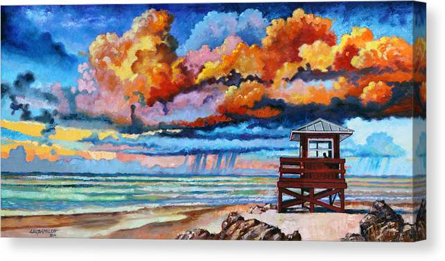 Ocean Canvas Print featuring the painting Dreaming of Siesta Key by John Lautermilch