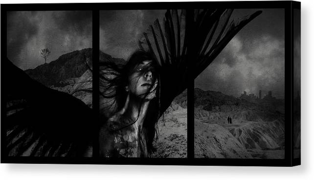 Exile Canvas Print featuring the mixed media Exile by Cambion Art