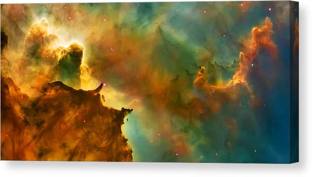 Nasa Images Canvas Print featuring the photograph Nebula Cloud by Jennifer Rondinelli Reilly - Fine Art Photography