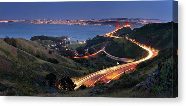 Scenics Canvas Print featuring the photograph S Marks The Spot by Vicki Mar Photography