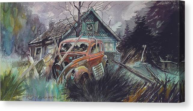 Ford Canvas Print featuring the painting Affordable by Ron Morrison