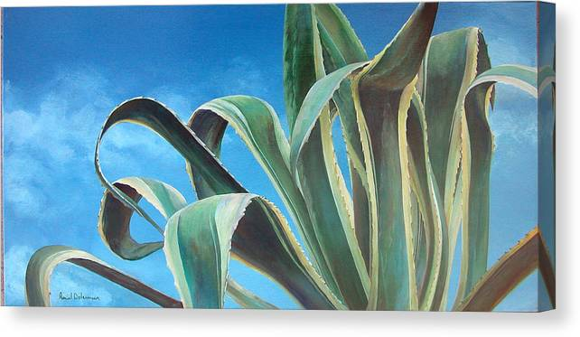 Floral Painting Canvas Print featuring the painting Agave by Muriel Dolemieux