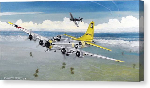 B-17 Canvas Print featuring the painting Chuckie by Marc Stewart