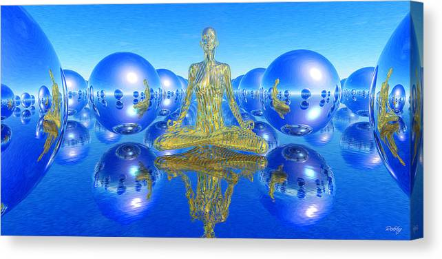 Enlightenment Canvas Print featuring the painting The Superficial Illusion Of Duality by Robby Donaghey