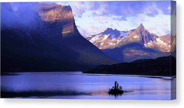 Scenics Canvas Print featuring the photograph Usa, Montana, Glacier Np, Mountains by Paul Souders