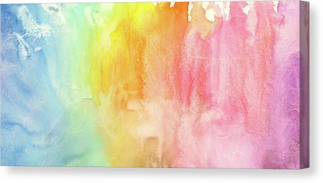 Watercolor Painting Canvas Print featuring the photograph Watercolor Rainbow Painting by Jusant