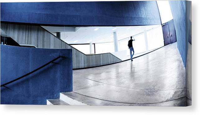 Pedestrian Canvas Print featuring the photograph Modern Architecture by Nikada