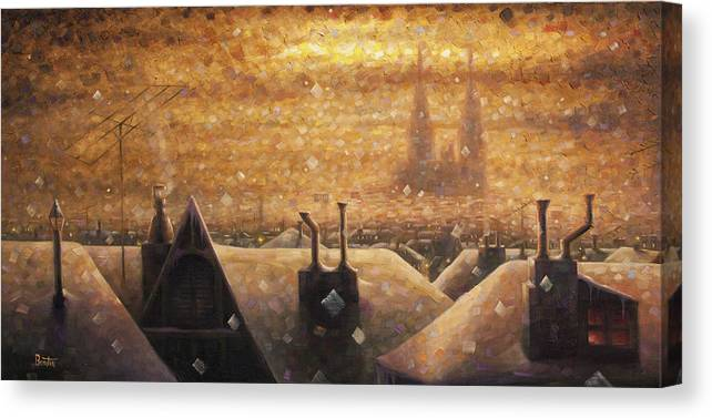France Art Canvas Print featuring the painting France Cathedral 4 by Rob Buntin
