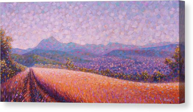 Auvergne Canvas Print featuring the painting Chaine des Puys by Rob Buntin