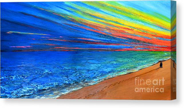 Art Canvas Print featuring the painting I Am Not Alone by Patricia Awapara