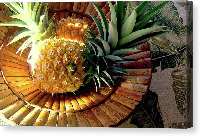 Pineapple Canvas Print featuring the photograph Good Morning Hawaii by James Temple
