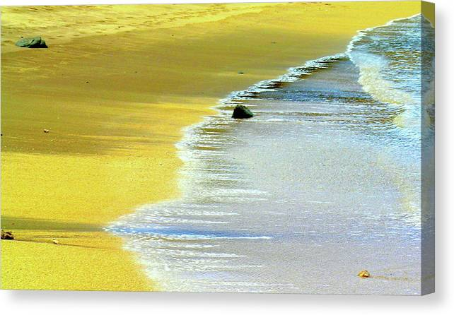 Hawaii Beach Canvas Print featuring the photograph Quiet Time by James Temple