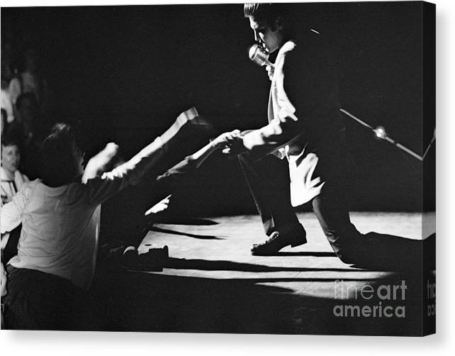 CANVAS Elvis Presley in Concert Art Print POSTER