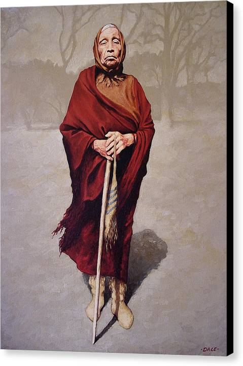 Portrait Canvas Print featuring the painting Red Dress by Dale VanSickle