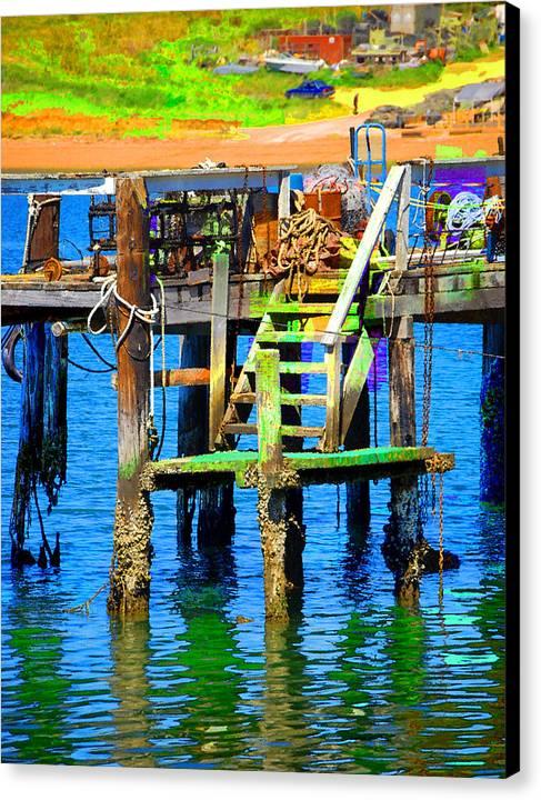 Canvas Print featuring the digital art Dock by Danielle Stephenson