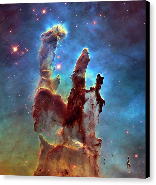 Pillars Of Creation In Eagle Nebula by Nasa, Esa, And The Hubble Heritage Team (stsci/aura)/science Photo Library