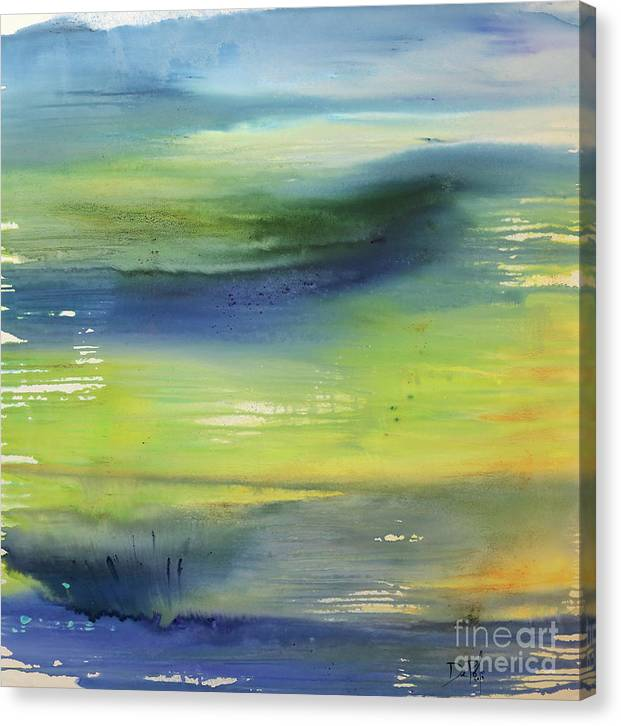 Abstract Canvas Print featuring the painting Morning by JoAnn DePolo