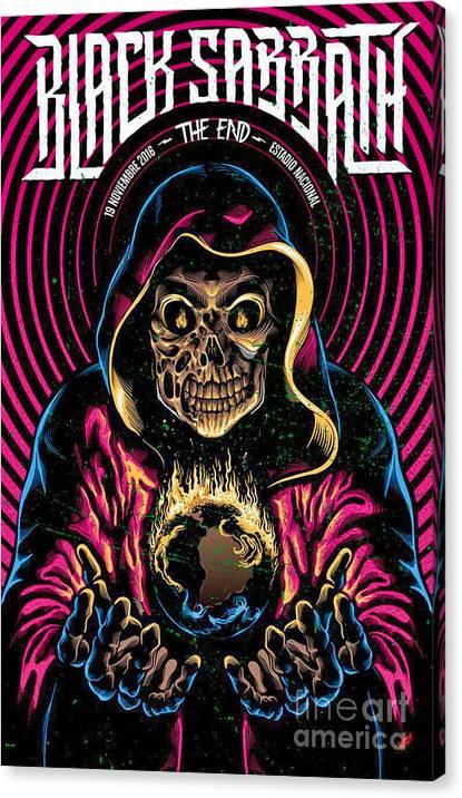 Black Sabbath-the End Canvas Print