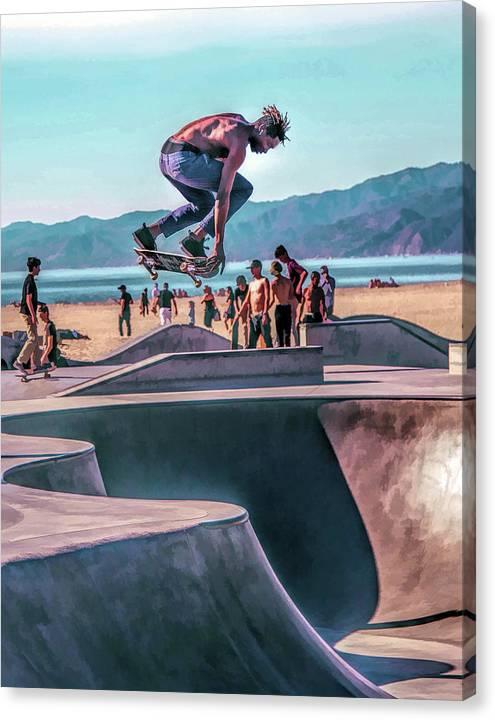 Venice Beach Skateboarder by Christopher Arndt