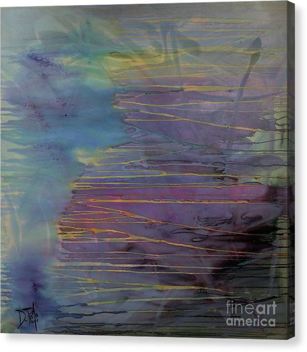 Abstract Canvas Print featuring the painting On The Edge by JoAnn DePolo