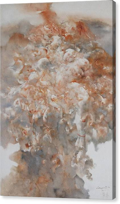 Social Canvas Print featuring the painting Festering N003 by Gongwei
