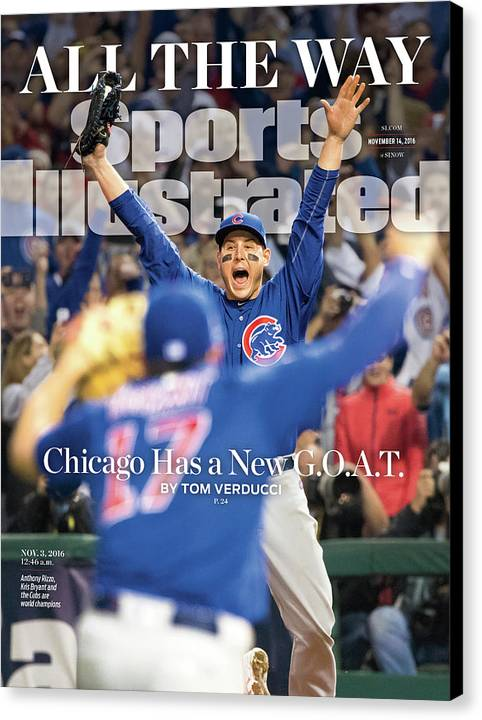 Magazine Cover Canvas Print featuring the photograph All The Way Chicago Has A New G.o.a.t. Sports Illustrated Cover by Sports Illustrated