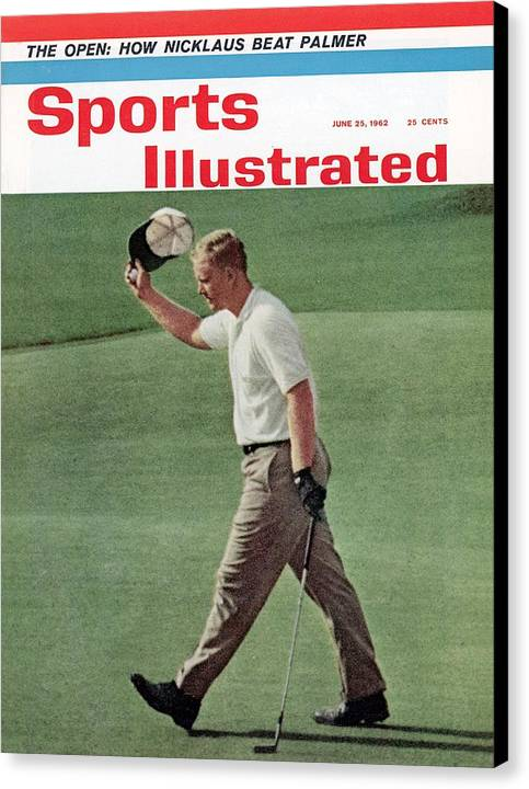 Magazine Cover Canvas Print featuring the photograph Jack Nicklaus, 1962 Us Open Sports Illustrated Cover by Sports Illustrated