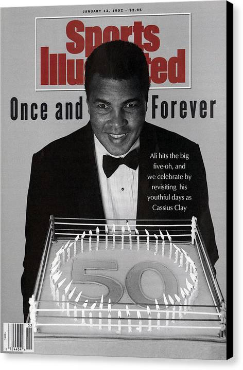 Magazine Cover Canvas Print featuring the photograph Muhammad Ali, 50th Birthday Celebration Sports Illustrated Cover by Sports Illustrated