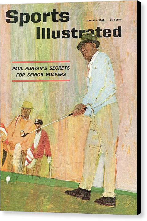 Paul Runyans Secrets For Senior Golfers Sports Illustrated Cover Canvas Print