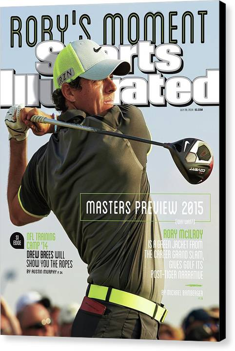 Magazine Cover Canvas Print featuring the photograph Rorys Moment 2014 British Open Sports Illustrated Cover by Sports Illustrated