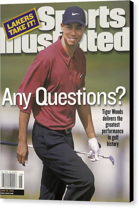 Tiger Woods, 2000 Us Open Sports Illustrated Cover Canvas Print