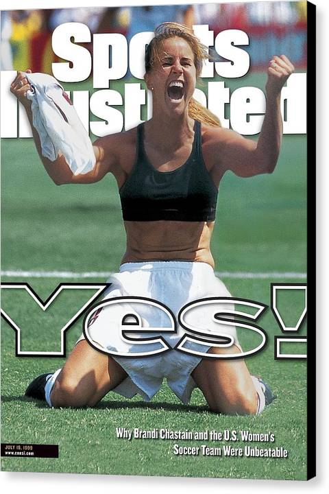 Usa Brandi Chastain, 1999 Womens World Cup Final Sports Illustrated Cover Canvas Print