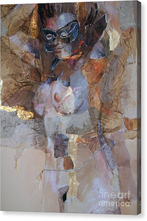 Figurative Canvas Print featuring the painting After the Show by Tina Siddiqui