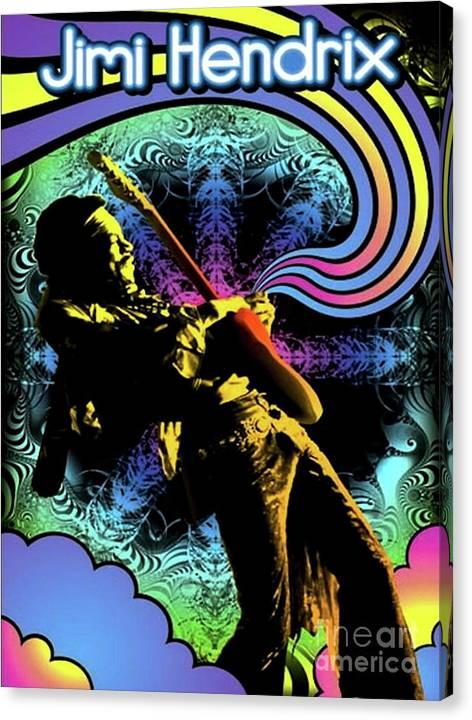 Jimi Hendrix Blacklight  by Trindira A
