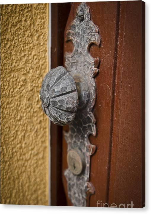 Limited Time Promotion: Antique Doorknob Stretched Canvas Print