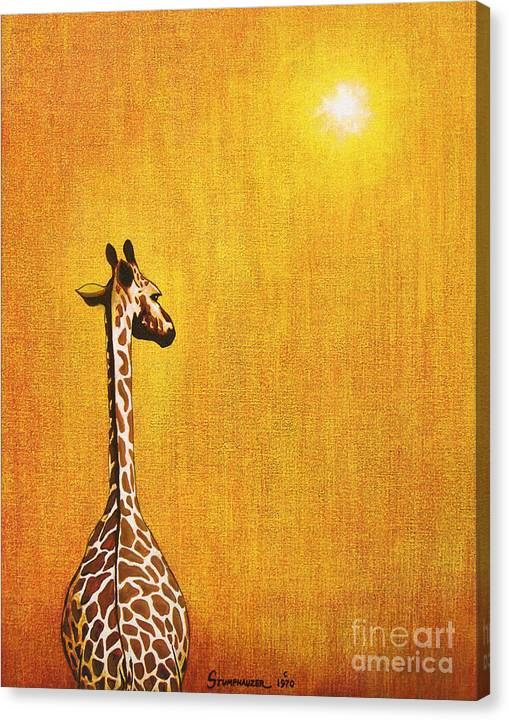Limited Time Promotion: Giraffe Looking Back Stretched Canvas Print