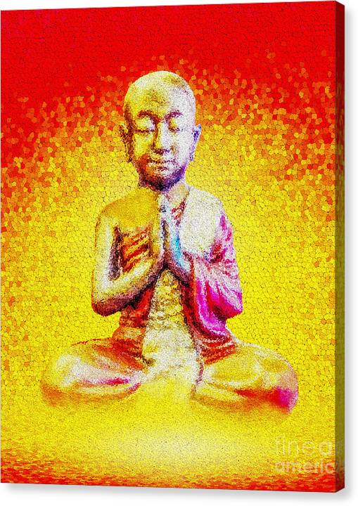 Limited Time Promotion: Nirvana Monk Stretched Canvas Print