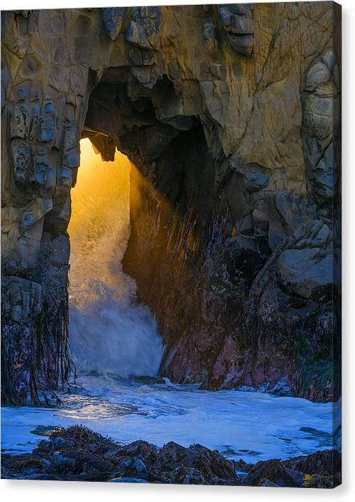 Limited Time Promotion: Pfeiffer Beach Tunnel 2013 Stretched Canvas Print