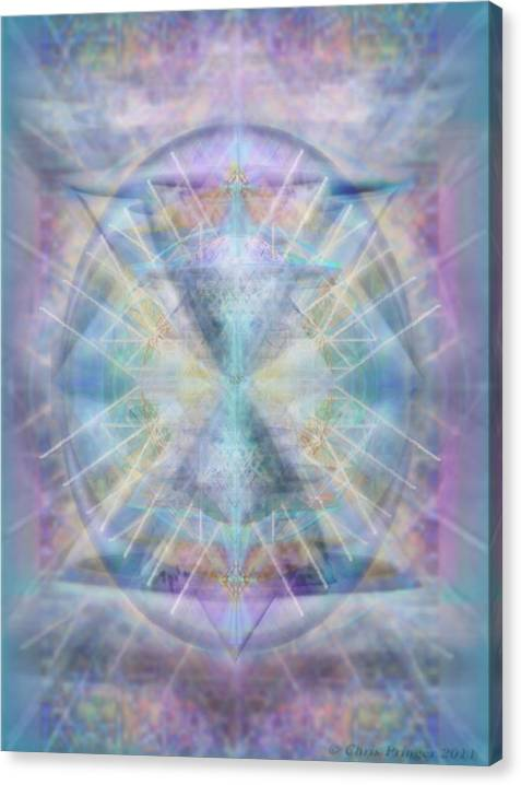 Limited Time Promotion: Chalice Of Vorticspheres Of Color Shining Forth Over Tapestry Stretched Canvas Print