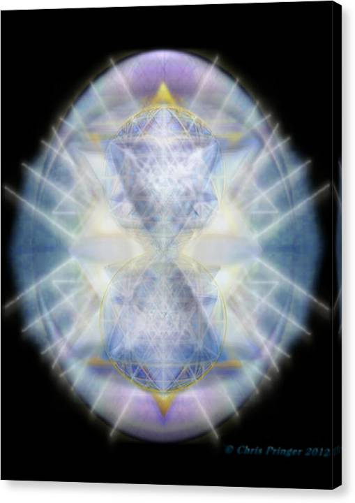 Limited Time Promotion: Mirror Emergence Ii Blue N Teal Stretched Canvas Print