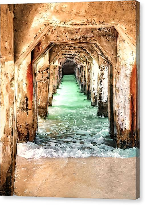 Limited Time Promotion: Escape To Atlantis Stretched Canvas Print by Pennie McCracken