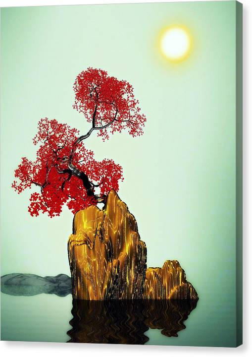 Limited Time Promotion: Red Tree 2 Stretched Canvas Print