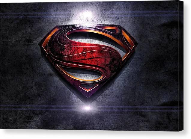 Superman Canvas Print featuring the digital art Superman Series 05 by Carlos Diaz