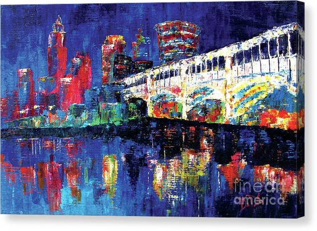 Depolo Canvas Print featuring the painting C Town by JoAnn DePolo