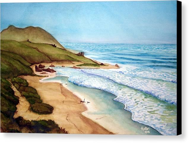 Rick Huotari Canvas Print featuring the painting Pacific by Rick Huotari