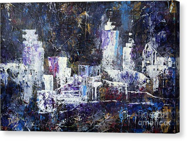 Cleveland Canvas Print featuring the painting Cle Jaz by JoAnn DePolo