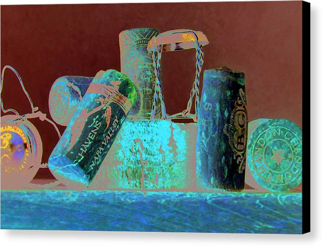 Wine Canvas Print featuring the painting Domain Chandon by Randy Ford