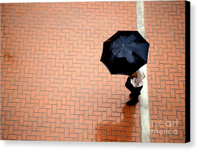 West Canvas Print featuring the photograph Going West - Umbrellas Series 1 by Carlos Alvim